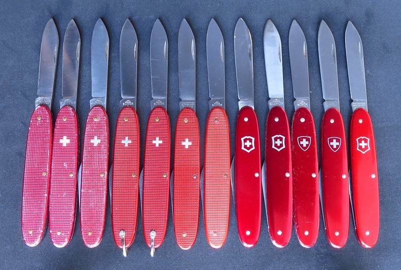 Various shades of red in standard 84mm Alox 